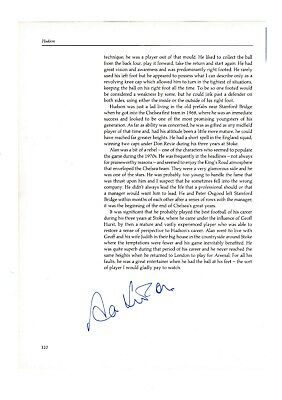 Alan Hudson Chelsea 1968-84 Original Football Autograph Annual Page With Profile