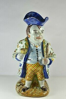 Late 19th/early 20th century French faience pottery Toby Jug