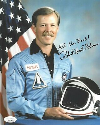 "Robert ""Hoot"" Gibson signed NASA Astronaut Pilot 8x10 Photo All the Best- JSA"