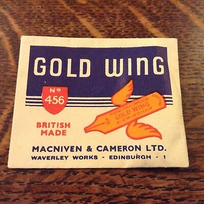 Vintage 'Gold Wing' Macniven & Cameron Sample Nibs No. 456 in package sealed