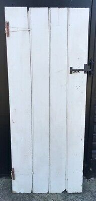 Reclaimed Painted Pine 4 Plank & Ledge Internal Door