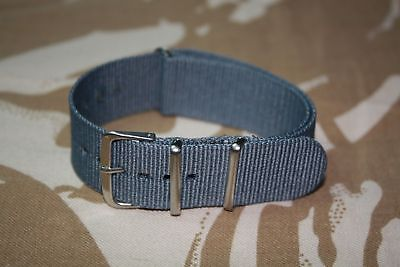 Cinturino Orologio 20mm Grey watch nylon strap band correa nato bracelet