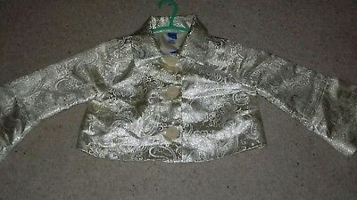 Girls 💛 Gorgeous Stunning Sparkly Bolero Jacket Age 7yrs By Adams