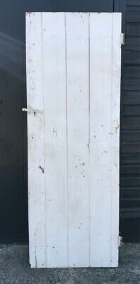 Reclaimed Painted Pine 5 Plank & Ledge Internal Door