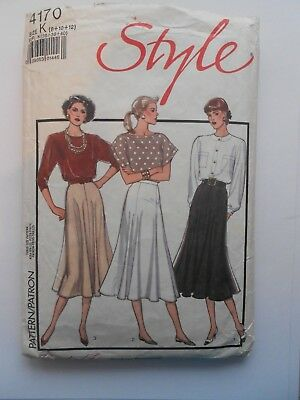 Vintage Style Sewing Pattern No. 4170  Skirts Size 8 - 12