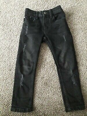 Boys / Kids Distressed Look Black Skinny Jeans From Next - Age 4 - Bnwt