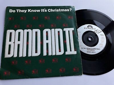 """Band Aid Ii  -  Do They Know It""""s Christmas ?   7"""" Single,  P/s,  Feed 2,  1989"""