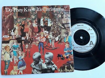 """Band Aid  -  Do They Know Its Christmas ?   7"""" Single, P/s, Feed 1, 1984"""