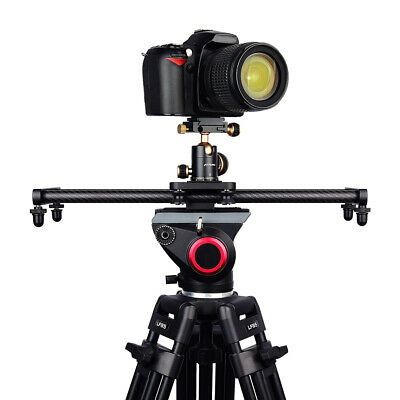 Carbon Fiber Camera Track Slider Video Stabilizer Rail with 4 Bearings 40cm