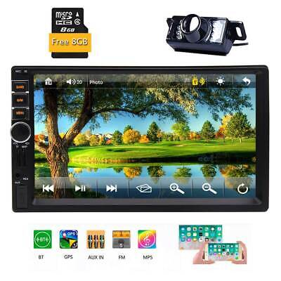 """7"""" 2Din MP5 MP3 Player HD Touch Screen Stereo GPS Car Radio Bluetooth FM +Camera"""