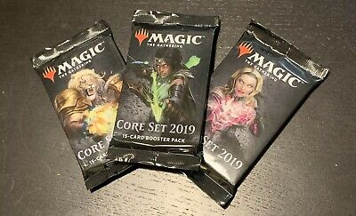 3x Core Set 2019 Sealed Booster Pack M19 - MTG Magic the Gathering