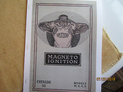 1914 Splitdorf  Models W, X, Y, Z  Magneto Instructions/Operating Manual