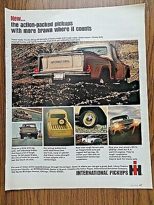 1965 IH International Harvester Pickup Truck Ad  Action-Packed More Brawn