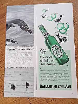 1940 Ballantine Ale Ad  Purity Body Flavor