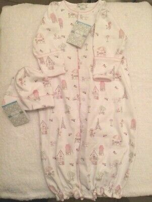 d5544690 Kissy Kissy Set Baby Girl Gown & Hat Parisian Stroll Eiffel Print Size Small  NB