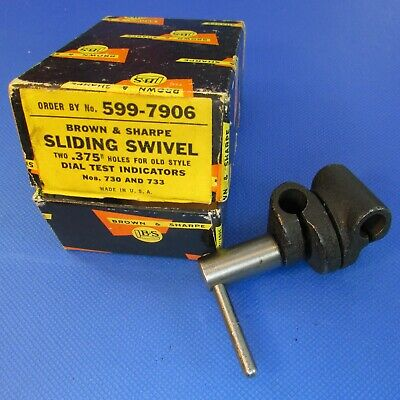 "vintage BROWN & SHARPE  Sliding Swivel .375"" X 375"" in original Box; Machinist"