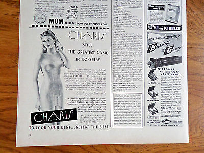 1942 Charis Bra Girdle Ad  Corsetry
