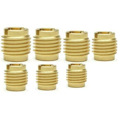 70 Qty Assortment Brass Knife Threaded Inserts For Wood | 7 Sizes (BCP892)