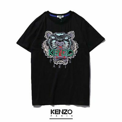 0845af42 Hot MEN WOMEN EMBROIDERE KENZO PARIS TIGER LOGO T-Shirts (black) SIZE: