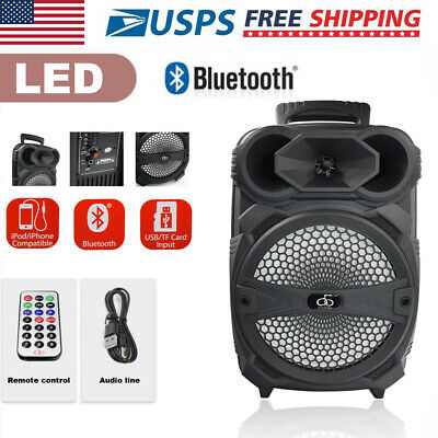 "8"" Portable Bluetooth Party Speaker W/ FM radio USB/TF Mic port remote control"