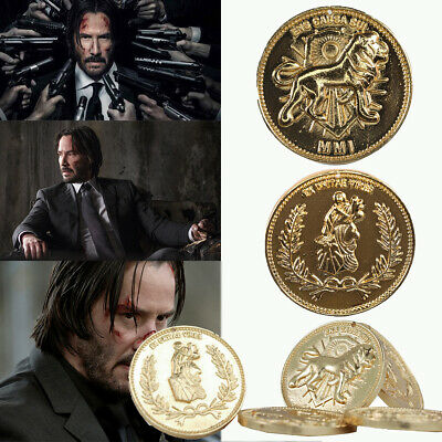 Replica Costume Prop John Wick Continental Hotel Gold Coin New Gift High Quality