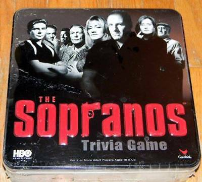 HBO The SOPRANOS TRIVIA GAME in COLLECTIBLE TIN by Cardinal NEW & FACTORY SEALED
