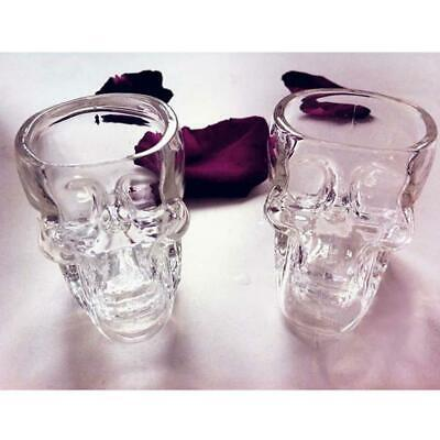 Crystal Skull Head Vodka Whiskey Shot Glass Cup Drinking Ware Home Bar UP