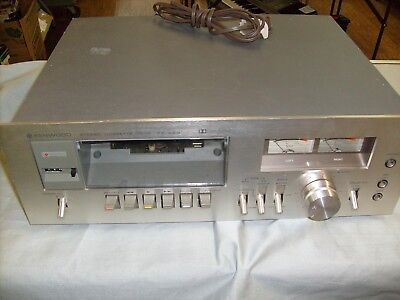 Vintage KENWOOD KX-620  HiFi Stereo Cassette Deck Recorder player Powers on