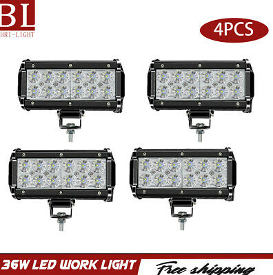 4pcs 36W Led Work Lights Bar Offroad Light Fit For Truck SUV ATV 4WD UTE Ford