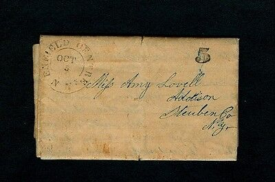 1847 ENFIELD CENTRE NY 3pg letter - Temperance Lecture in Center of Town