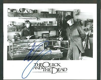 """Ryan O'neal Signed 8x10"""" Glossy Black & White Photo - Signed in Blue Sharpie"""