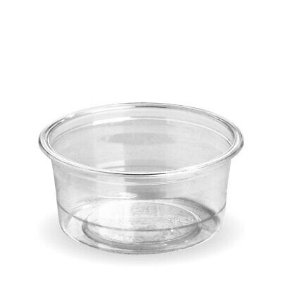 50x Sauce Cup 90mL Eco Clear Plastic BioCup Portion Container Dip Condiment