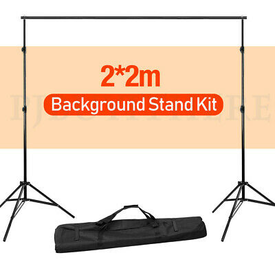 Heavy Duty Photography Photo Studio Background Backdrop Stand Kit with Free Bag