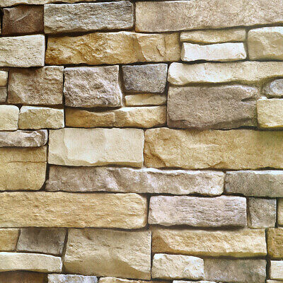 Vinyl Self Adhesive 3D Brick Stone Wallpaper Roll Stickers Living Room 10M