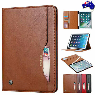 For iPad Air 10.5'' 2019 Leather Pencil Cards Holder Smart Flip Case Stand Cover