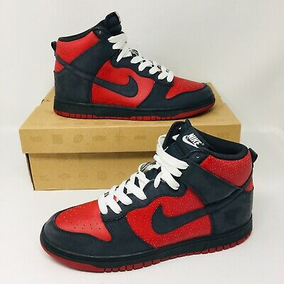 "release date 96675 8aac8 Nike Dunk High ""Ultraman"" (Men Size 8.5) Red Anthracite Grey White Sneakers"