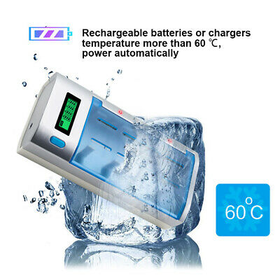 Smart Battery Charger LCD Display For AA/AAA/C/D Rechargeable Batteries
