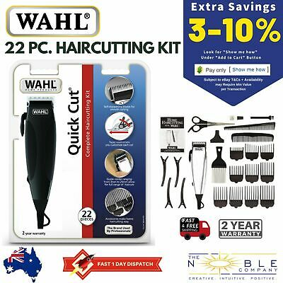 Wahl Mens Electric Hair Clippers Professional Haircut Trimmer Boys Grooming Kit