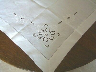 "Tablecloth  36"" (90cms)  Square Gorgeous white Floral Cotton"