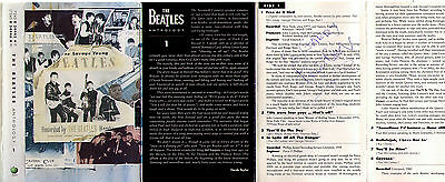 Great Pete Best Signed Anthology Cassette Tape Cover The Beatles