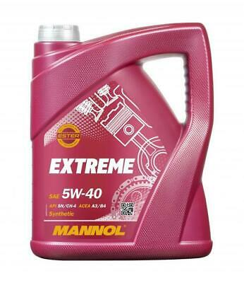 MANNOL 5L Fully Synthetic Engine Oil EXTREME 5W-40 SN/CH-4 ACEA A3/B4 VW 502/505