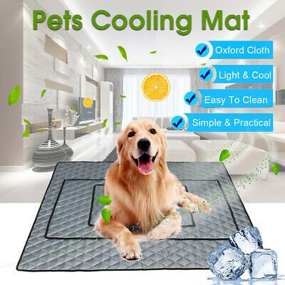 Pet Cooling Mat Non-Toxic Cool Pad Pet Bed For Summer Dog Cat Puppy M/L/XL