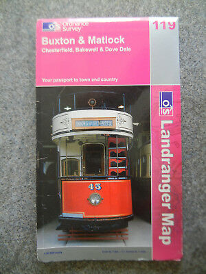 Buxton and Matlock, Bakewell and Dove Dale by Ordnance Survey (Pink OS Map 119)