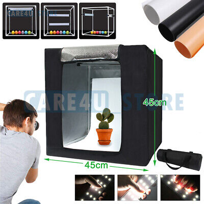Portable Photo Studio Lighting 45CM Box Photography Backdrop LED Light Room Tent