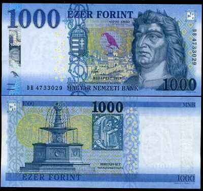 Hungary 1000 1,000 Forint 2018 P 206 New Date Unc