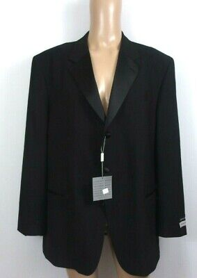 Geoffrey Beene 100% Wool Black Tuxedo Jacket 46 New  #153SC