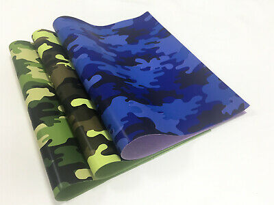 21X29cm Synthetic Faux PU Leather Camouflage Printed Fabric DIY for bow handbags