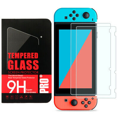 2 Pack Premium HD Tempered Glass Screen Protector Film Guard for Nintendo Switch