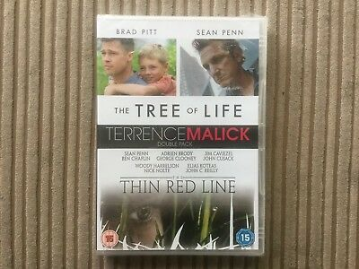 New & Sealed Tree Of Life / The Thin Red Line Dvd Terrence Malick Double Pack