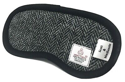 Harris Tweed Black Herringbone Eye Mask